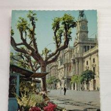 Postales: VALENCIA - PLAZA DEL CAUDILLO - UN PUESTO DE FLORES - GARRABELLA Nº3.111 - SIN CIRCULAR. Lote 246013380