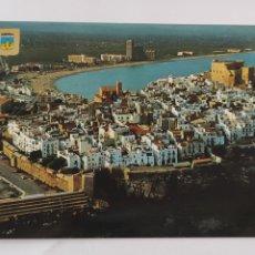 Postales: POSTAL 102 PEÑÍSCOLA (CASTELLÓN) VISTA AÉREA. Lote 246304955