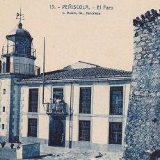 Postales: CASTELLON, PEÑISCOLA, EL FARO. ED. FOTO ROISIN Nº 15. SIN CIRCULAR. Lote 246322655