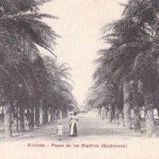 Postales: ALICANTE, PASEO DE LOS MARTIRES, ESPLANADA. ED. PZ Nº 10068. REVERSO SIN DIVIDIR. SIN CIRCULAR. Lote 246330645