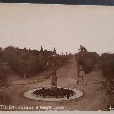 Postales: LOTE 120321- POSTAL CASTELLON PLAZA DE LA INDEPENDENCIA 1937 + CIRCULADA SELLO AYUDAD SOCORRO ROJO. Lote 247728295