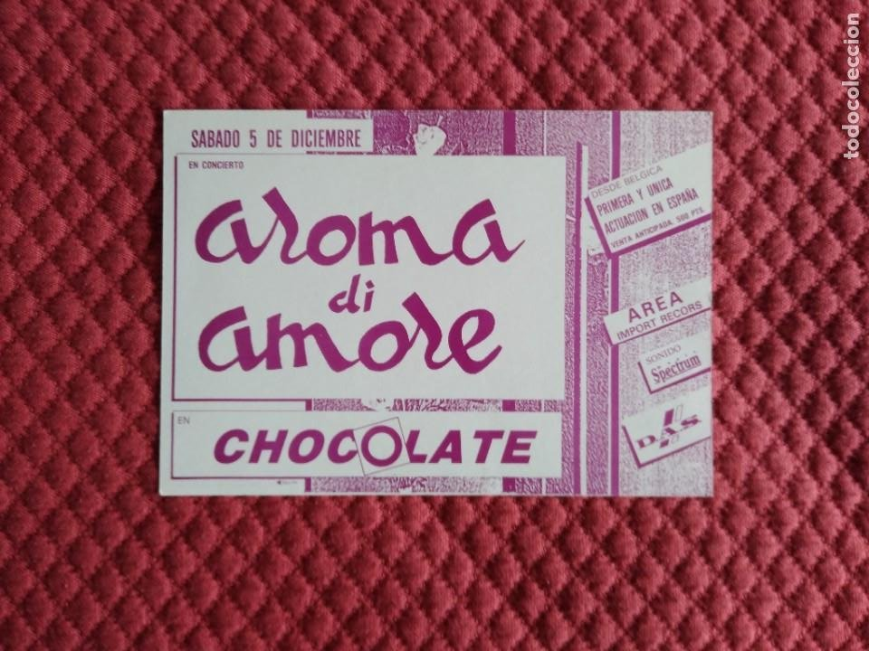 POSTAL DISCOTECA CHOCOLATE RUTA VALENCIA AÑOS 80 AROMA DI AMORE (Postales - España - Comunidad Valenciana Moderna (desde 1940))