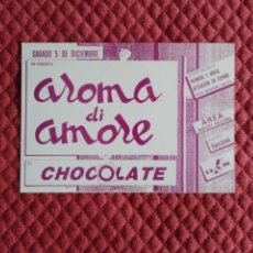 Postales: POSTAL DISCOTECA CHOCOLATE RUTA VALENCIA AÑOS 80 AROMA DI AMORE. Lote 165407986