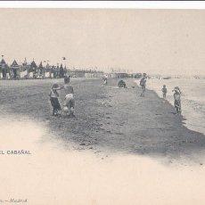 Cartes Postales: VALENCIA, PLAYA DEL CABAÑAL. ED. HAUSER Y MENET Nº 1016. REVERSO SIN DIVIDIR. Lote 253168040