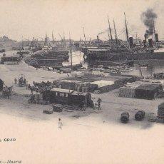 Cartes Postales: VALENCIA, PUERTO DEL GRAO. ED. HAUSER Y MENET Nº 1017. REVERSO SIN DIVIDIR. Lote 253168525