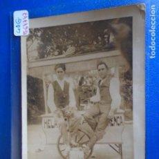 Postales: (PS-64747)POSTAL FOTOGRAFICA DE JIJONA-HELADERIA AMBULANTE. Lote 253435570