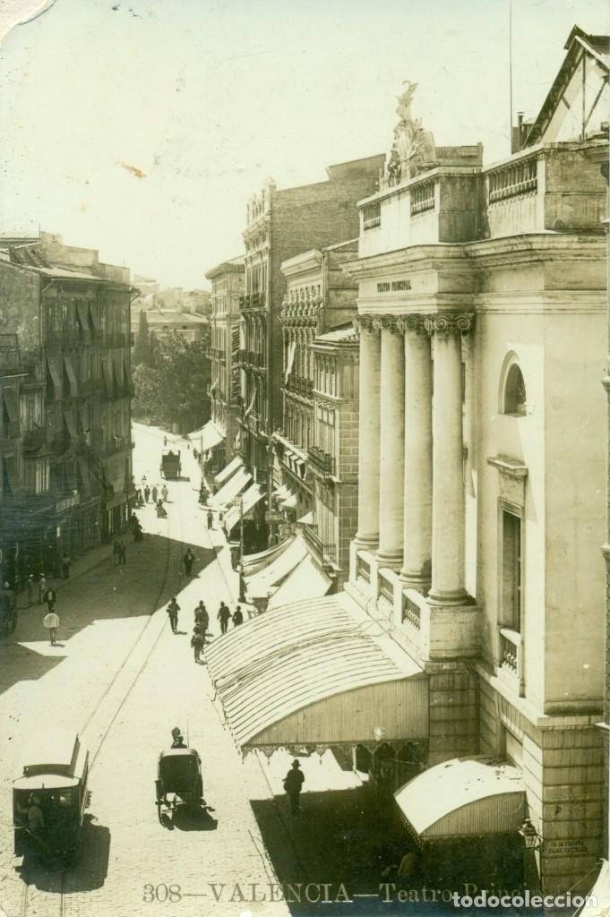 VALENCIA TEATRO PRINCIPAL. CIRCULADA EN 1912. ANDRÉS FABERT. FOTOGRÁFICA. (Postales - España - Comunidad Valenciana Antigua (hasta 1939))
