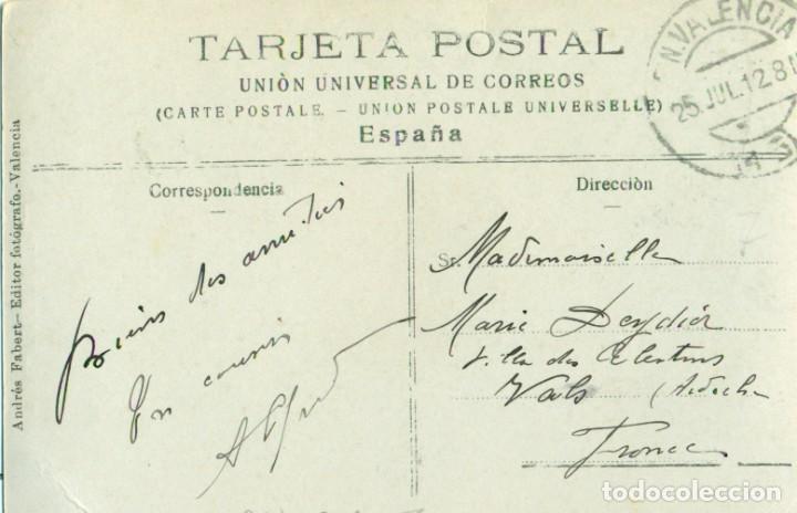 Postales: VALENCIA TEATRO PRINCIPAL. CIRCULADA EN 1912. ANDRÉS FABERT. FOTOGRÁFICA. - Foto 2 - 253568480