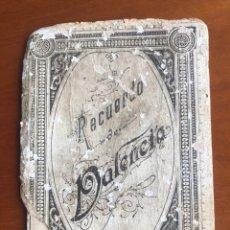Postales: ÁLBUM DE POSTALES DE VALENCIA PRINCIPIO DE SIGLO 1900. Lote 253791145