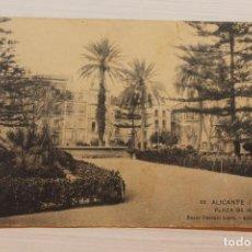 Postales: POSTAL ALICANTE, PLAZA ISABEL II, ED. BAZAR PASCUAL LÓPEZ, ALICANTE. Lote 253918740