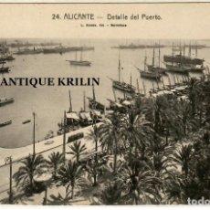 Postales: ALICANTE Nº 24 DETALLE DEL PUERTO / FOTO L. ROISIN. Lote 254550440