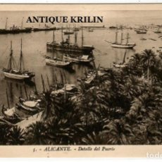 Postales: ALICANTE Nº 5 DETALLE DEL PUERTO / FOTO L. ROISIN. Lote 254559150
