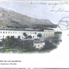 Postales: (PS-65033)POSTAL DE NOVELDA-BALNEARIO DE LAS SALINETAS.HIJOS DE A.CANTO. Lote 254747450
