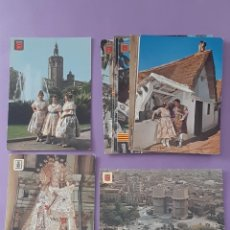Postales: LOTE 15 TARJETAS POSTALES VALENCIA BARRACA PAELLA FALLERAS PLAZA CAUDILLO CASTILLO RIPALDA. Lote 255491995