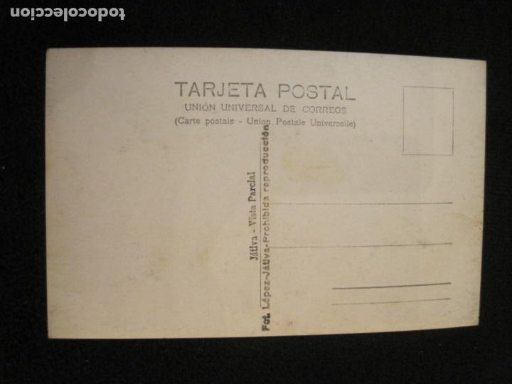 Postales: JATIVA-VISTA PARCIAL-FOTOGRAFICA LOPEZ-POSTAL ANTIGUA-(79.854) - Foto 2 - 257327545