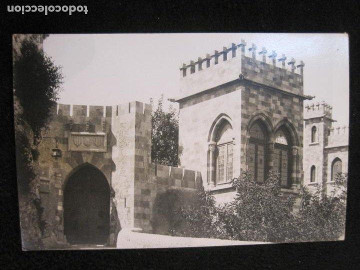 JATIVA-VISTA PARCIAL DEL CASTILLO-FOTOGRAFICA LOPEZ-POSTAL ANTIGUA-(79.855) (Postales - España - Comunidad Valenciana Antigua (hasta 1939))