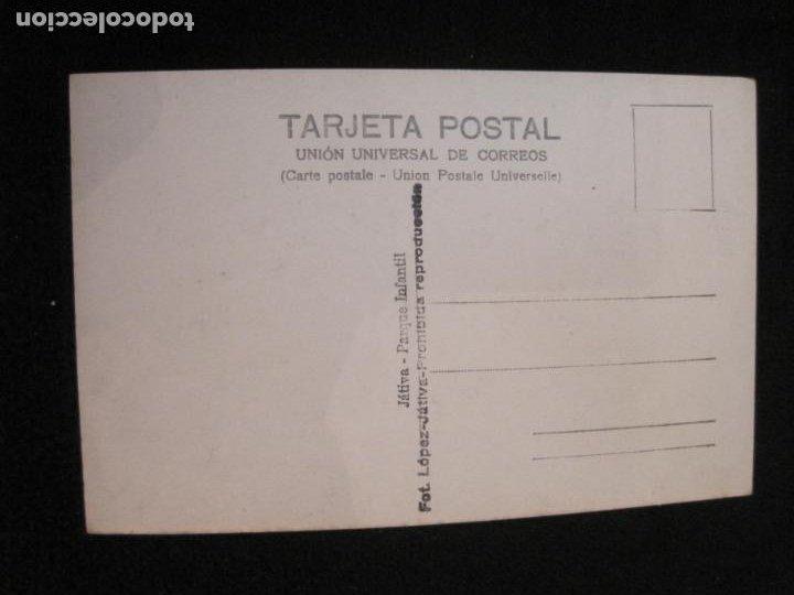 Postales: JATIVA-PARQUE INFANTIL-FOTOGRAFICA LOPEZ-POSTAL ANTIGUA-(79.856) - Foto 2 - 257327660