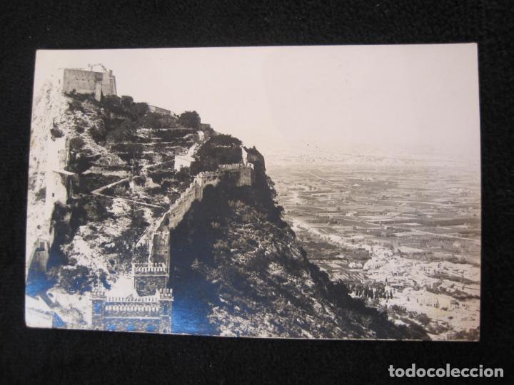 JATIVA-CASTILLO MAYOR-FOTOGRAFICA LOPEZ-POSTAL ANTIGUA-(79.857) (Postales - España - Comunidad Valenciana Antigua (hasta 1939))