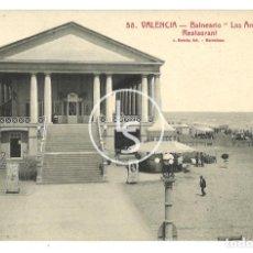 "Cartes Postales: POSTAL VALENCIA 58 BALNEARIO ""LAS ARENAS"" RESTAURANT L. ROISIN. Lote 258792750"