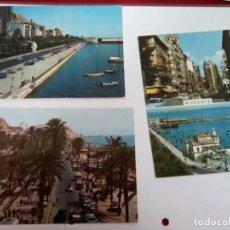 Postales: ALICANTE 3 POSTALES AÑOS 60/70. Lote 260534705