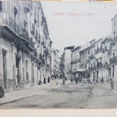 Postales: POSTAL ANTIGUA - JIJONA CALLE DE CANALEJAS. Lote 261637910