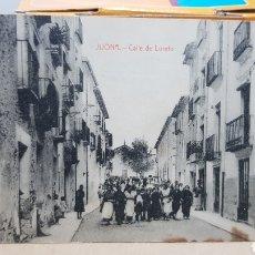 Postales: POSTAL ANTIGUA - JIJONA CALLE DE LORETO. Lote 261638400