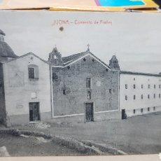 Postales: POSTAL ANTIGUA - JIJONA CONVENTO DE FRAILES. Lote 261638545