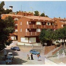 Postales: EM0808 BENASAL HOTEL FUENTE ES SEGURES 1972 ESCUDO DE ORO Nº13 RENAULT 4 8 SEAT 600 GORDINI FIAT??. Lote 261663515