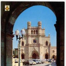 Postales: EM0812 CASTELLON IGLESIA ARCIPRESTAL 1968 ESCUDO DE ORO Nº75 RENAULT 4 2CV FURGO VESPA SEAT 1500. Lote 261663700