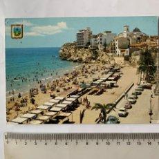 Postales: POSTAL. BENIDORM. ALICANTE. PLAYA DE LEVANTE Y CIUDAD. A. SUBIRATS CASANOVAS. EDICIONES PERGAMINO.. Lote 261981705