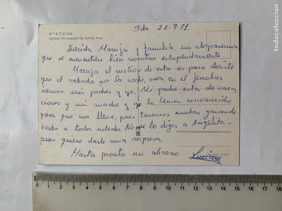 Postales: POSTAL. ELDA. ALICANTE. IGLESIA PARROQUIAL DE SANTA ANA. RAKER. - Foto 2 - 261984220