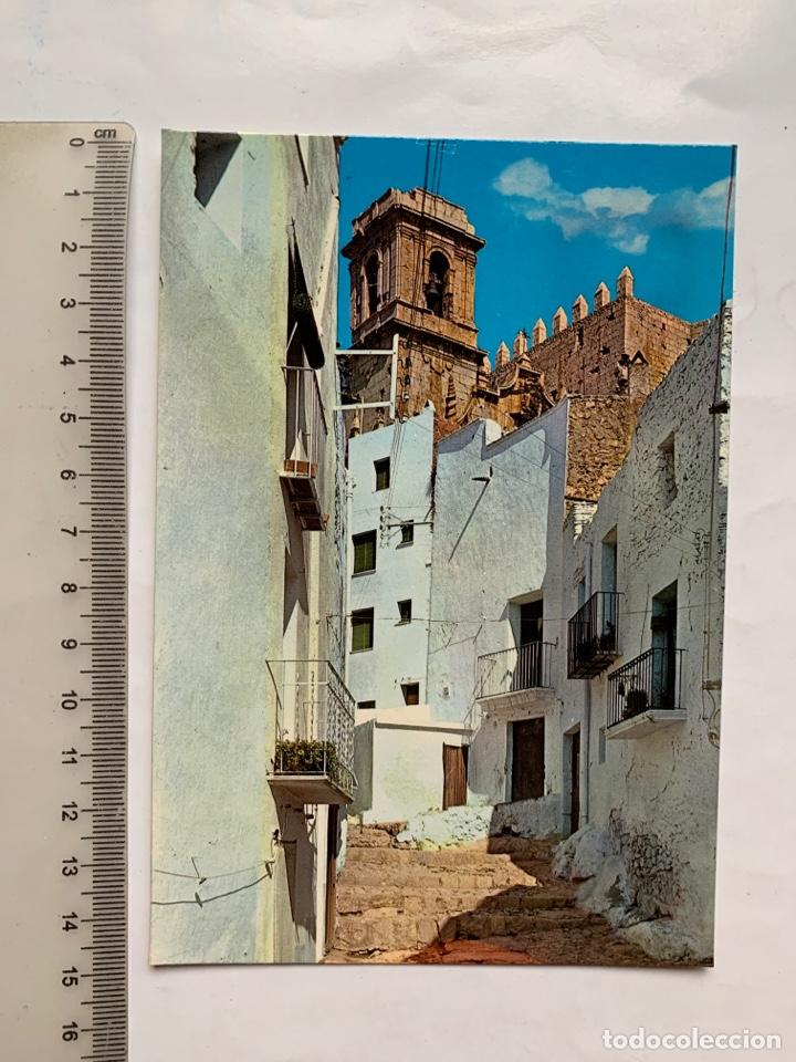 POSTAL. PEÑISCOLA. CASTELLÓN. CALLE TÍPICA. GRÁFICAS HARRIS. F. CASTELL. IMPRENTA. (Postales - España - Comunidad Valenciana Moderna (desde 1940))