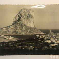 Postales: CALPE (ALICANTE) POSTAL NO.102, PUEBLO Y PEÑÓN DE IFACH.. FOTO ALFONSO SANCHEZ (H.1950?) S/C. Lote 262097865