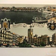 Postales: VALENCIA POSTAL NO.76, PUERTO - PLAZA DE LA REINA. ESCUDO DE ESPAÑA ÁGUILA DE SAN JUAN.. Lote 262115270
