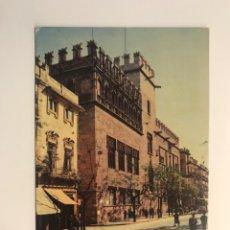 Postales: VALENCIA. POSTAL SERIE II, NO. 6005, LA LONJA. EDITA: A. CAMPAÑA Y J. PUIG (H.1950?) S/C. Lote 262120565