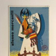 Postales: VALENCIA. POSTAL ATENEO MERCANTIL. CINCUENTANARIO EXPOSICIÓN REGIONAL (1909-1959). Lote 262123060