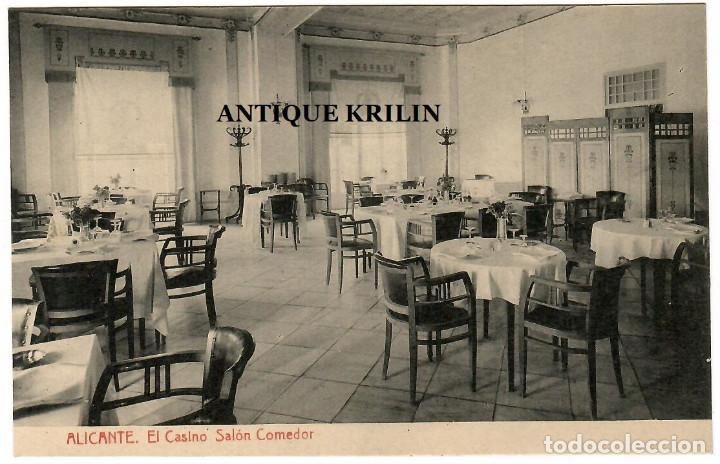 ALICANTE / EL CASINO , SALON COMEDOR / FOTOTIPIA THOMAS (Postales - España - Comunidad Valenciana Antigua (hasta 1939))