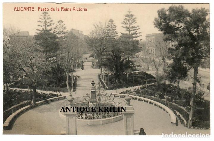 ALICANTE / PASEO DE LA REINA VICTORIA / FOTOTIPIA THOMAS (Postales - España - Comunidad Valenciana Antigua (hasta 1939))