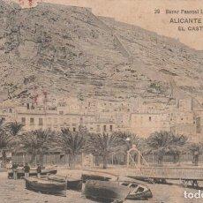 Postales: POSTAL ANTIGUA - ALICANTE - EL CASTILLO -Nº 29 - BAZAR PASCUAL LOPEZ -ESCRITA Y CIRCULADA EL AÑO1909. Lote 262818370
