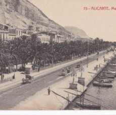 Postales: ALICANTE MUELLE DE COSTA. ED. FOTOTIPIA THOMAS Nº 73. SIN CIRCULAR. Lote 263073245