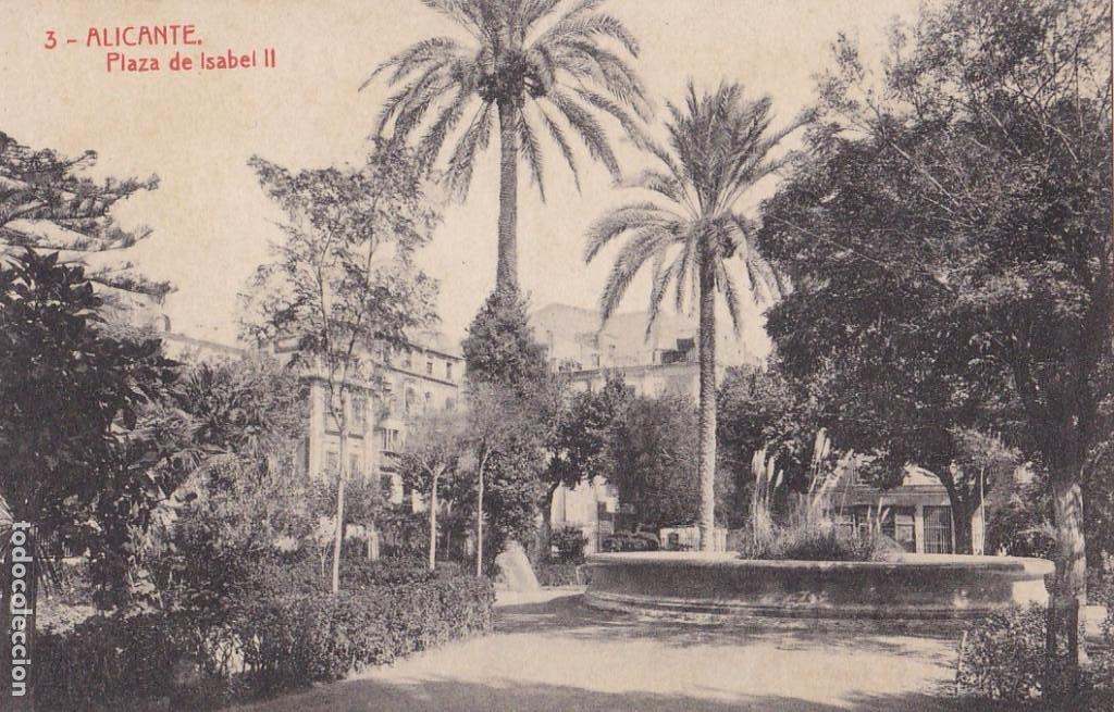 ALICANTE PLAZA ISABEL II. ED. FOTOTIPIA THOMAS Nº 3. SIN CIRCULAR (Postales - España - Comunidad Valenciana Antigua (hasta 1939))