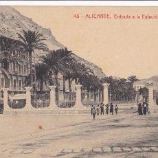 Postales: ALICANTE ENTRADA ESTACION MARITIMA. ED. FOTOTIPIA THOMAS Nº 48. SIN CIRCULAR. Lote 263073725