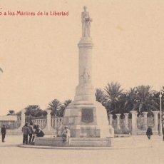 Postales: ALICANTE MONUMENTO A LOS MARTIRES DE LA LIBERTAD. ED. FOTOTIPIA THOMAS Nº 61. SIN CIRCULAR. Lote 263073940