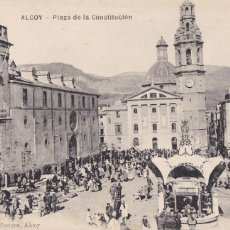 Postales: ALICANTE ALCOY PLAZA DE LA CONSTITUCION. ED. J. LLORENS PERICAS. SIN CIRCULAR. Lote 263074965