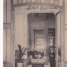 Postales: VALENCIA ENTRADA GRAN HOTEL ESPAÑA. ED. CASTEÑEIRA ALVAREZ Y LEVENFELD. CON SELLO DEL HOTEL. Lote 263075675