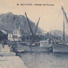 Postales: ALICANTE DETALLE DEL PUERTO. ED. PAPELERIA MARIMÓN Nº 26. SIN CIRCULAR. Lote 267406474