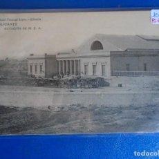 Postales: (PS-65583)POSTAL DE ALICANTE-ESTACION M.Z.A.BAZAR PASCUAL LOPEZ. Lote 269140798