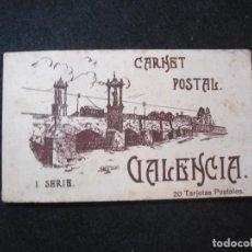 Postales: VALENCIA-BLOC CON 20 POSTALES ANTIGUAS-I SERIE-JDP-VER FOTOS-(81.652). Lote 269298233