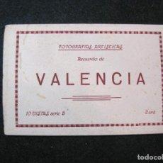 Postales: VALENCIA-BLOC CON 10 POSTALES ANTIGUAS-SERIE B DURA-VER FOTOS-(81.655). Lote 269299123