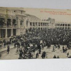 Postales: TARJETA POSTAL DE VALENCIA. EXPOSICION REGIONAL VALENCIANA. LA PISTA EN EL ACTO DE INAUGURACION.. Lote 269372723